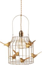 Hanglamp goud kinderkamer | met vogeltjes nét echt