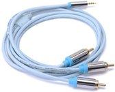 1.5 Meter Vention RCA-kabel vergulde 2.5mm jack naar 3 RCA male naar male stereo audiokabel