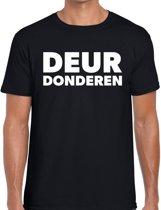 Zwarte Cross deur donderen t-shirt - zwart Achterhoek festival shirt voor heren - zwarte cross S