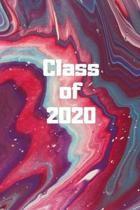 Class of 2020: Pink marble Senior year memory journal 120 pages