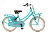 Nogan Vintage Transportfiets - Meisjes - 20 inch - Ultra Aqua