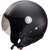 Beon Design - Mat zwart - Jethelm - Scooterhelm - Motorhelm - S / 56
