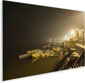 Dashaswmedh Gaths in de Nacht in India Plexiglas 180x120 cm - Foto print op Glas (Plexiglas wanddecoratie) XXL / Groot formaat!