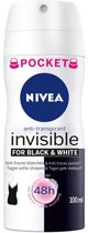 NIVEA Invisible For Black & White Clear - 100 ml - Deodorant Spray - Pocketsize