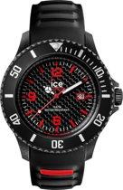Ice-Watch ICE Carbon Horloge - Siliconen - Zwart - Ø 48 mm