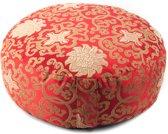 Meditatiekussen rood lotus patroon