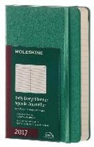 Moleskine Agenda 2017 12 Months Daily Pocket Malachite Green Hard Cover