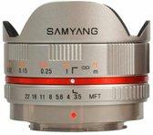 Samyang 7.5mm F3.5 UMC Fisheye - Prime lens - geschikt voor Micro 4/3 -zilver
