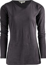 "Yoga Long-Shirt ""Get down"" - soot L Sportshirt casual YOGISTAR"