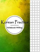 Korean Practice Notebook Writing