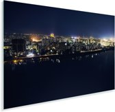 Stadsgezicht Pyongyang tijdens de nacht Plexiglas 30x20 cm - klein - Foto print op Glas (Plexiglas wanddecoratie)