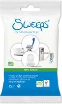 Sweeps Toiletdoekjes (12 reisverpakkingen: 12x15 stuks)