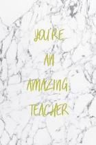 You're an Amazing Teacher