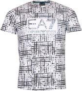 EA7 Shirt - Maat S  - Mannen - wit/zwart/groen