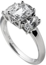 Diamonfire - Zilveren ring met steen Maat 18.0 - Vintage - Gladde band