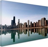 FotoCadeau.nl - Chicago skyline Canvas 80x60 cm - Foto print op Canvas schilderij (Wanddecoratie)