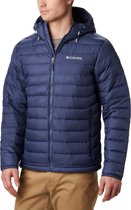 Columbia Powder Lite Hooded Jacket Heren Outdoorjas - Dark Mountain - M