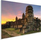 Zonsopgang in Angkor Wat in Cambodja Plexiglas 180x120 cm - Foto print op Glas (Plexiglas wanddecoratie) XXL / Groot formaat!