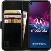 Rosso Element Motorola One Action Hoesje Book Cover Zwart