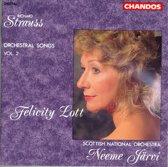 Strauss: Orchestral Songs Vol 2 / Lott, Jarvi, Scottish NO