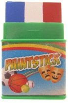 Push-up paint stick mini rood | wit | blauw