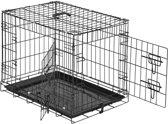 TecTake - Hondenkooi traliebox 60 x 44 x 51 cm - 402293