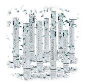 relaxdays 10-delige party popper set - confettikanon zilver - confetti shooter - bruiloft
