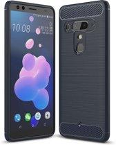 HTC U12 Plus hoesje - Rugged TPU Case - blauw