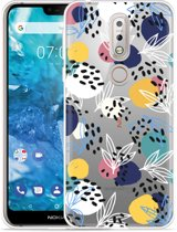 Nokia 7.1 Hoesje Abstract Flowers