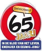 Verjaardagskaart 65jaar Verkeersbord