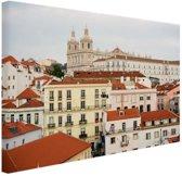 Gebouwen Lissabon Canvas 30x20 cm - klein - Foto print op Canvas schilderij (Wanddecoratie woonkamer / slaapkamer) / Steden Canvas Schilderijen