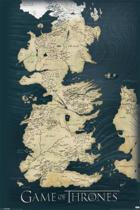 Game of Thrones -Map- Poster-antique-kaart-61x91,5cm