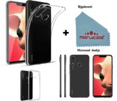 Pearlycase® Transparant Siliconen TPU hoesje voor Huawei P Smart Plus / Nova 3i
