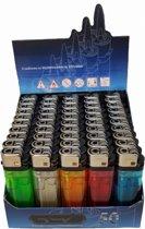 Wegwerp Aanstekers Voordeelpakket - 50 Stuks - Wegwerpaanstekers Met Verstelbare Vlam