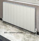 EB Vesima vertical aluminium radiator 1800 x 503 mat wit