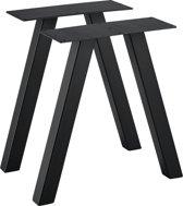 [en.casa] Stalen A - tafelpoot - meubelpoot 40x12x40 zwart
