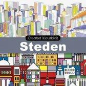 Creatief kleurblok steden