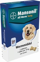 Mansonil All Worm Tasty - Hond - 2 Tabletten