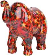 Pomme Pidou spaarpot olifant Zara - Rood met bloemen en vogelhuisjes