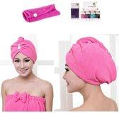 Haar handdoek roze | Sneldrogend | Microvezel | Sport handdoek | Haarhanddoek