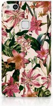 Huawei P10 Lite Uniek Standcase Hoesje Flowers