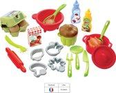 Ecoiffier 100% CHEF speelgoed kook accessoires