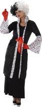 Cruella boze vrouw kostuum - Verkleedkleding - Medium