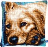 Vervaco kruissteekkussen Schattige hond 0154482