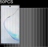 Let op type!! 50 PCS voor Galaxy Note 10 9H 2.5 D scherm gehard glas film