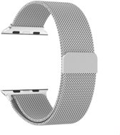 Milanese Loop Armband Voor Apple Watch Series 4 40 MM Iwatch Metalen Milanees Horloge Band - Zilver Kleurig