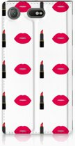 Flipcase Sony Xperia XZ1 Compact Design Lipstick Kiss