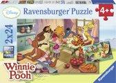 Ravensburger Disney Bakken en feesten met Winnie Twee puzzels van 24 stukjes