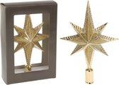Gouden piek ster vorm 25 cm