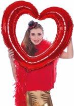 Valentijn - Folie  foto frame hart  rood 80  x 70 cm